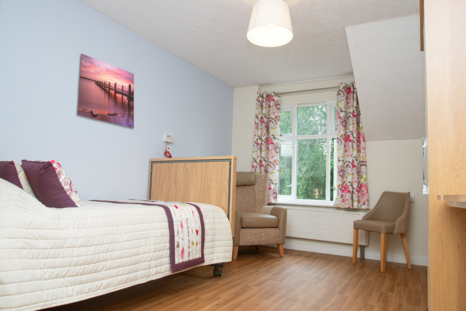 Moor House Care Home Bedroom